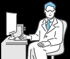 イラスト:「オンライン診療」画面にアクセス